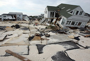 Sandy damage