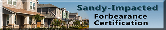 Sandy-Impacted Foreclosure Certification