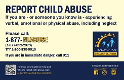 Child abuse doesn t report itself poster this 11 x 17 poster gives the
