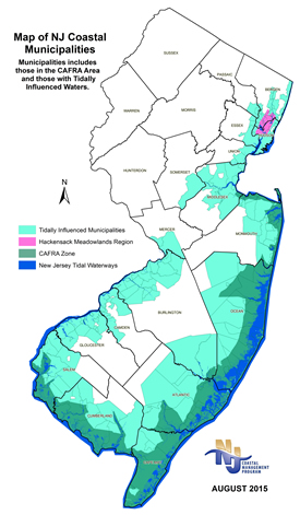 Nj Coastline Map NJDEP Coastal Management Program