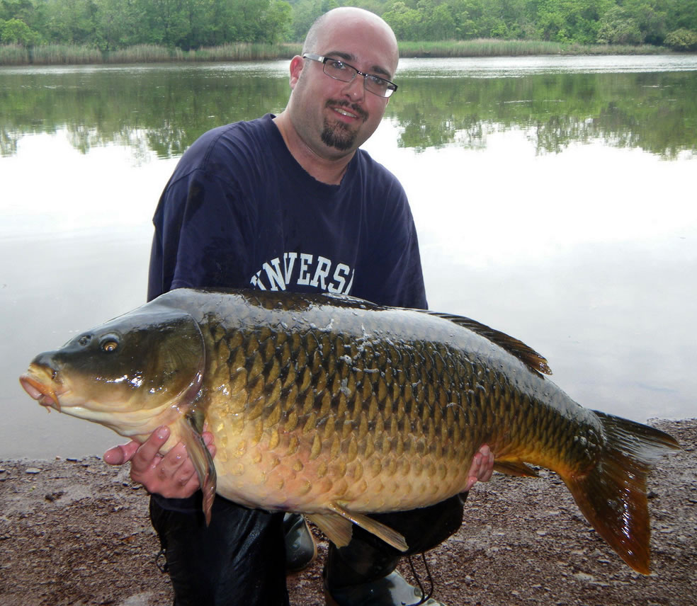 Carp record with his monster carp