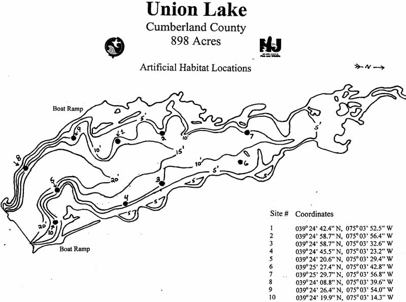 union lake nj map Njdep Division Of Fish Wildlife Lake Survey Maps union lake nj map