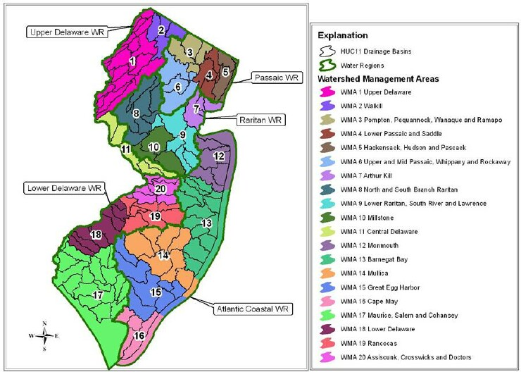 New Jersey Regions Map Smaller Jpg To Fit Pictures To Pin