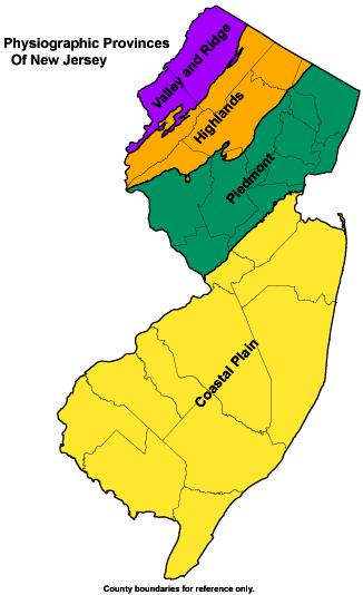 NJDEP New Jersey Geological And Water Survey DGS - Us physiographic regions map