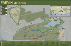 Beautiful Parvin State Park Map