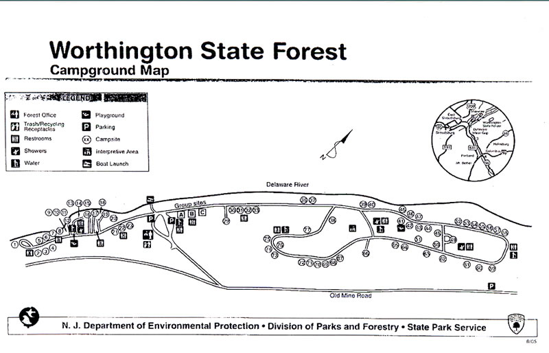 NJDEPParks And Forests - Us forest campgrounds map