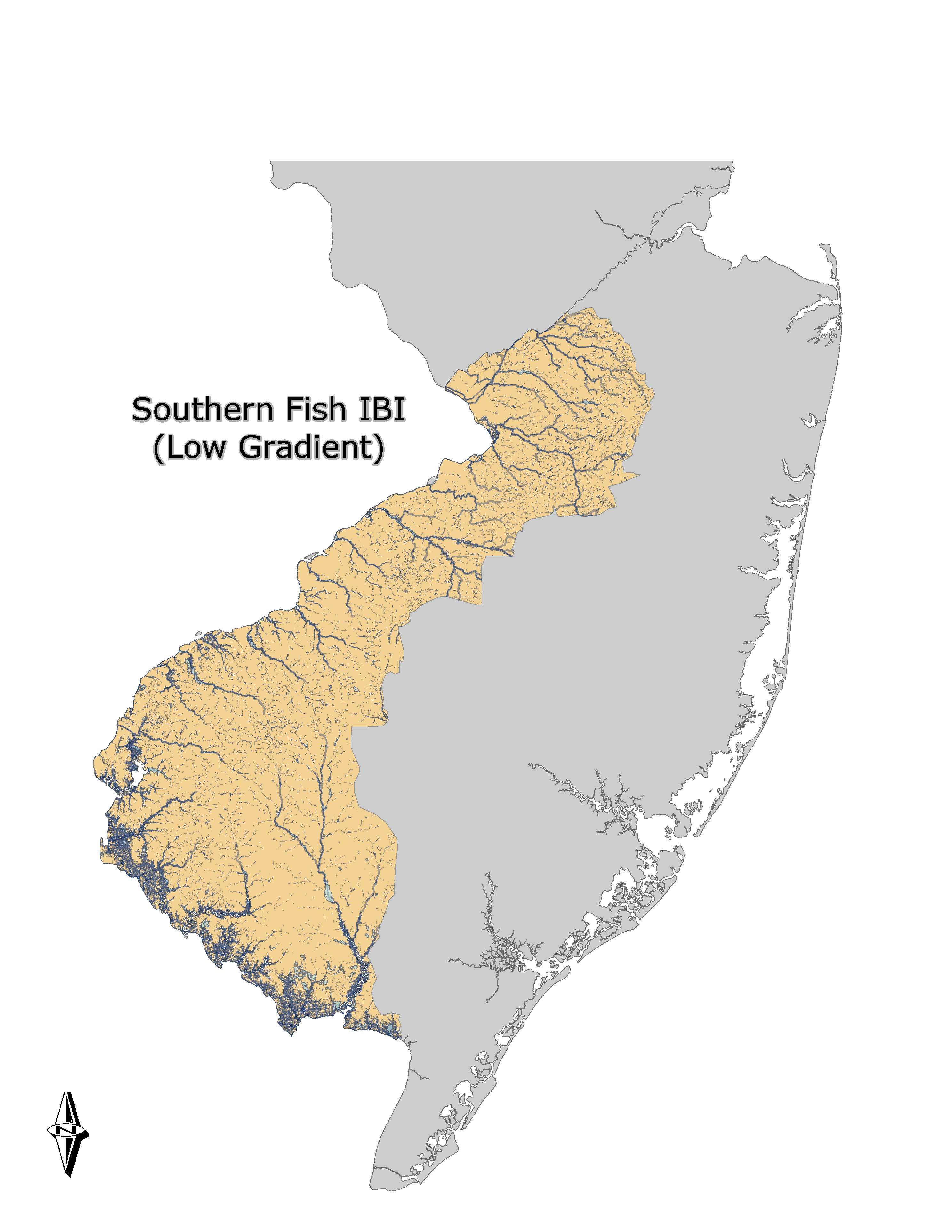 NJDEPDivision Of Water Monitoring And Standards - Us map gradient generator