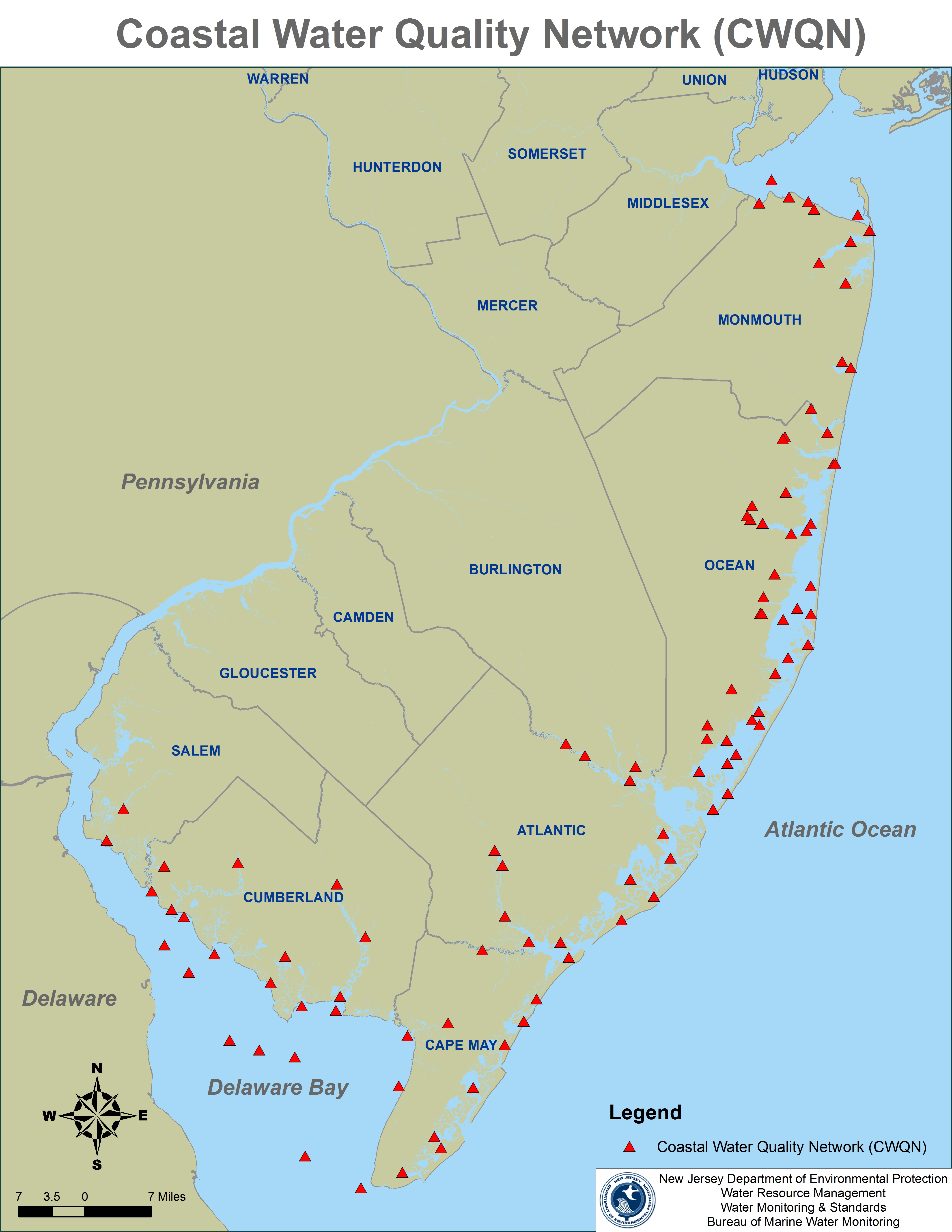 NJDEPDivision Of Water Monitoring And Standards - Map of water quality in us