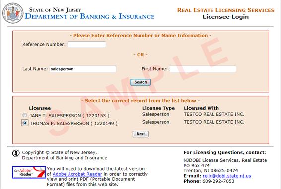 Nj broker license search
