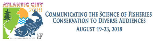 Logo for the 148th Annual Meeting of the American Fisheries Society.