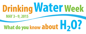 Logo for National Drinking Water Week 2015.