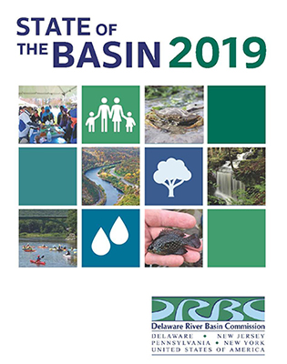 Cover of DRBC's State of the Basin 2019 Report.