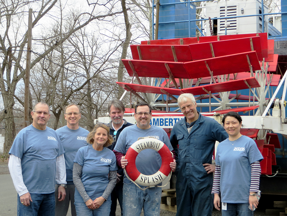 The DRBC volunteers are all smiles after a job well done. Here, they pose with Eric Clark, SPLASH Trustee and Crew Mate - Science (2nd from right). Photo by DRBC.