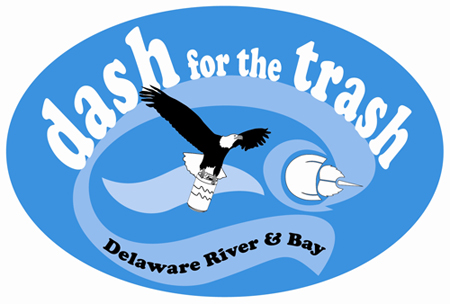 Logo for the Delaware Dash for the Trash.