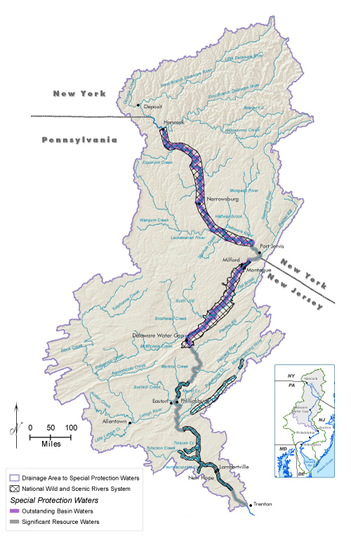 Delaware River Basin CommissionState Of The Basin Water Quality - Delaware river on us map
