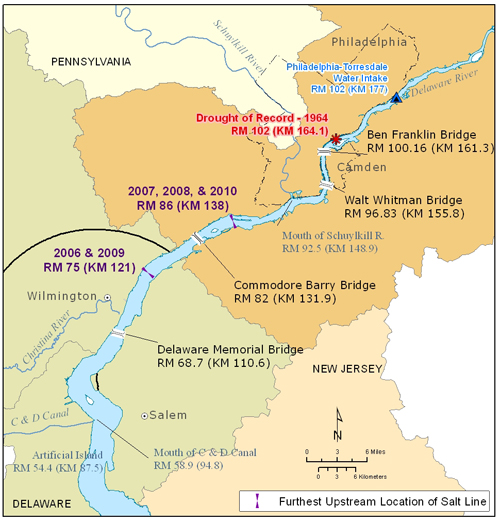 Delaware River Basin CommissionState Of The Basin Water - Delaware river on us map