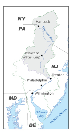 Overview map of SPW Drainage Area.