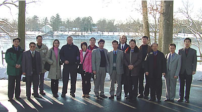 Photo of visitors from China.