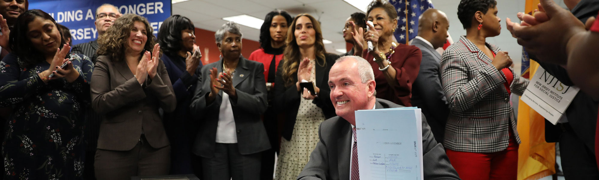 Governor Phil Murphy signing  legislation