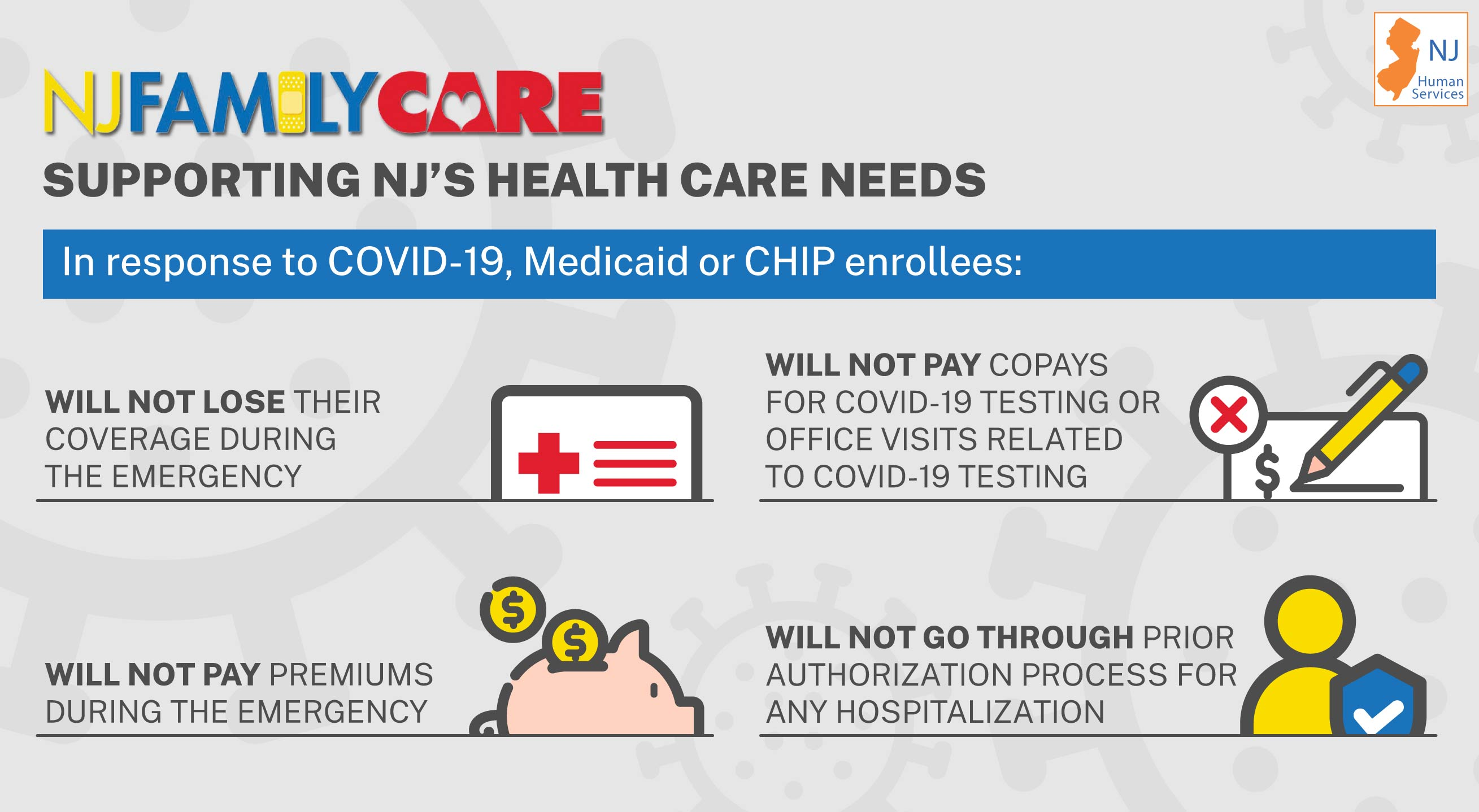 NJ FamilyCare Supporting New Jerseyans' Health Care Needs During the Covid-19 Emergency