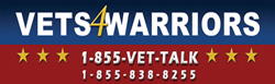 VETS 4 WARRIORS - 1-855-838-8255 (1-855-VET-TALK)