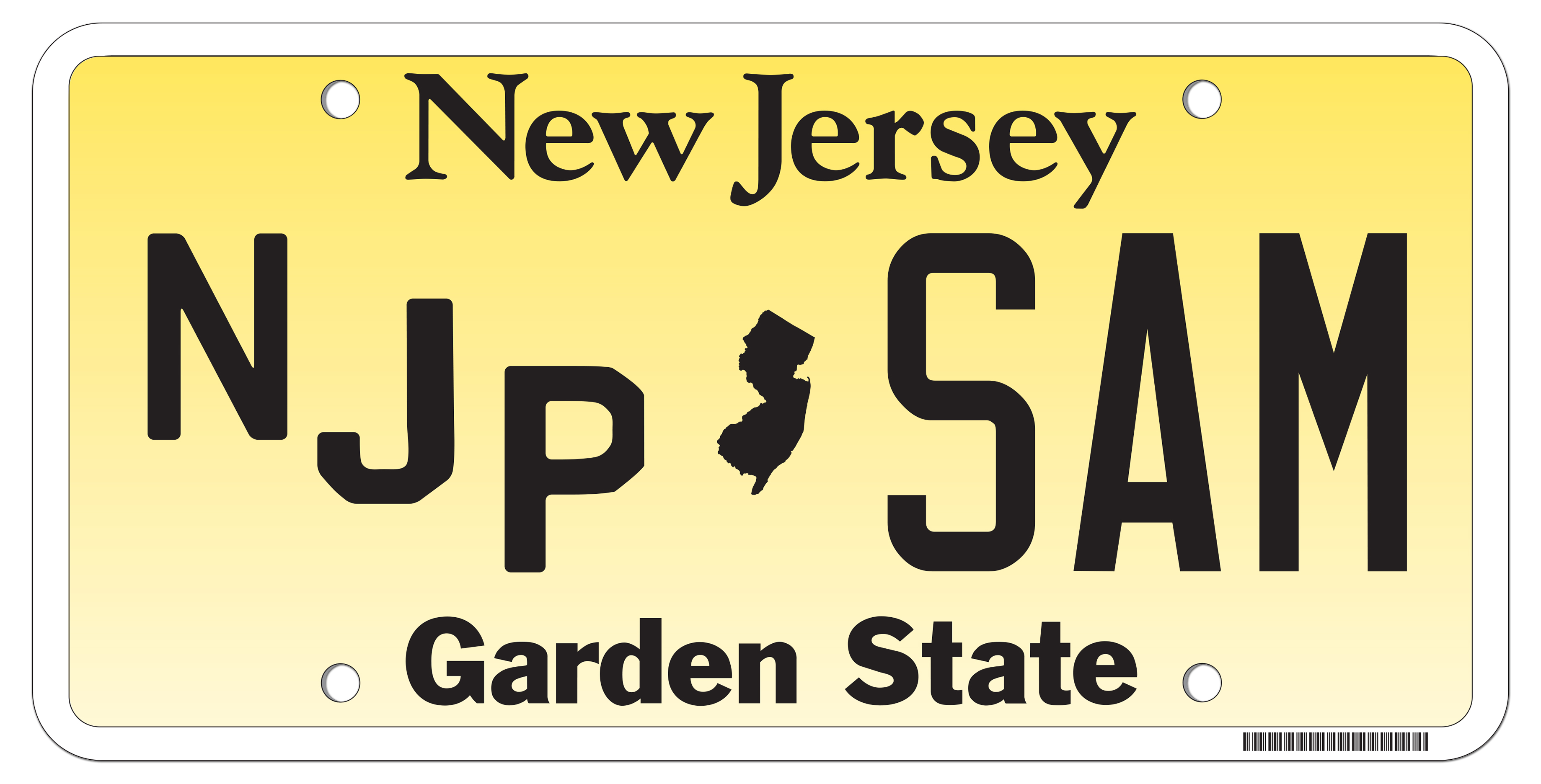 Personalized License Plate Application New Jersey