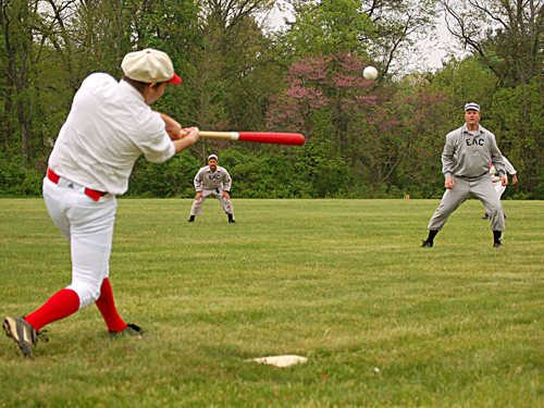 Reenactment of a 19th century baseball game,  Mercer County