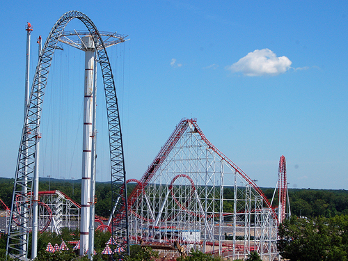 Big thrill rides at Six Flags Great Adventure, Jackson, NJ