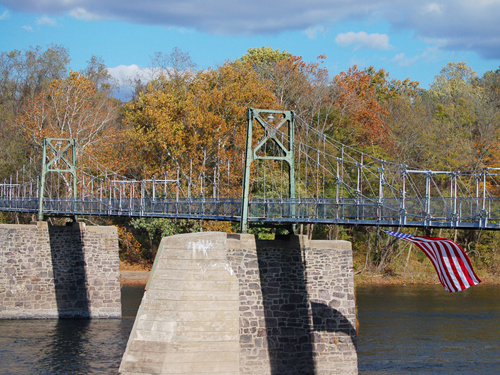Pedestrian bridge across the Delaware River, Bull's Island Recreation Area, near Stockton