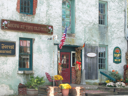 Craft shops at the Old Mill, South Main Street in Allentown