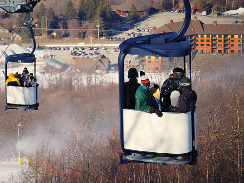 Cabriolet gondolas at Mountain Creek Ski Resort, Sussex County