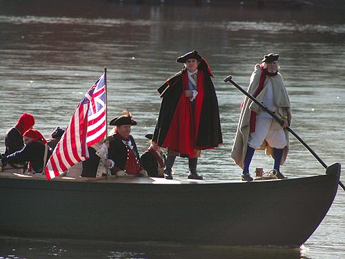 Annual reenactment of Washington crossing the Delaware, Mercer County