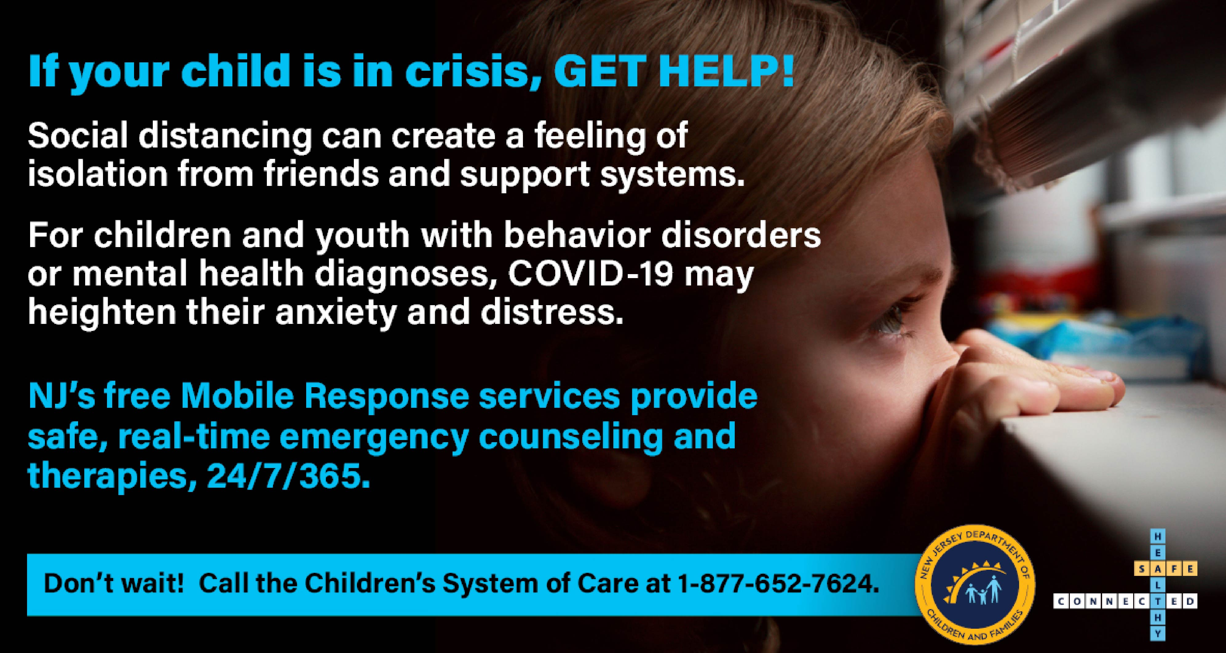 NJDCF  campaign  to promote Children's System of Care  and the behavioral & mental health services  available to families throughout NJ.