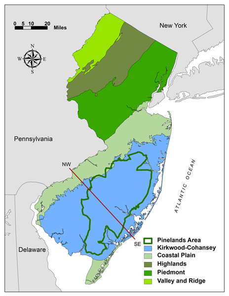 NJ physiographic provinces