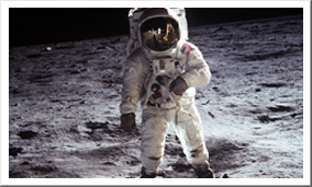 """Planetarium - Astronaut Edwin """"Buzz"""" Aldrin, a native of Montclair, New Jersey, was the second man to stand on the surface of the moon."""