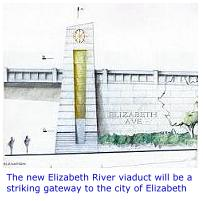 The new Elizabeth River viaduct will be a striking gateway to the City of Elizabeth.
