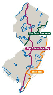 Biking In New Jersey Tours Guides Recreation Commuter Information - Us bike route map