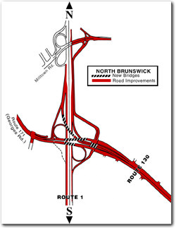Route 1/130/Georges Road Interchange Reconstruction