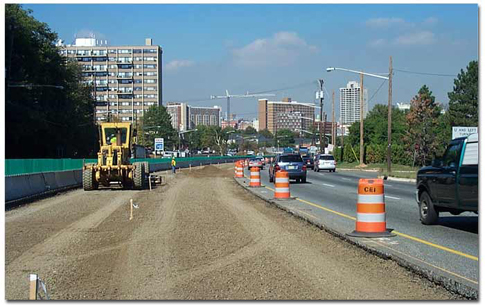 Route 18 Reconstruction, Archived Photos, Construction