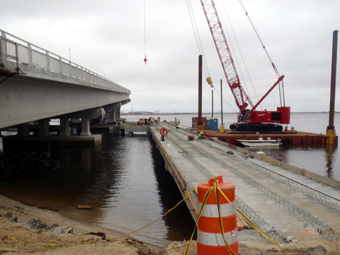 Route 52 Causeway Bridge Replacement, Archived Photos, Construction