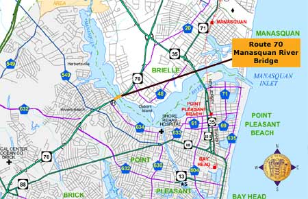 route 70 manasquan river bridge map graphic