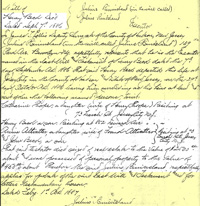 The application for probate of Henry Beck�s will