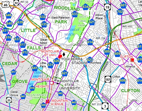 Route Route Valley Road And NotchRifle Camp Road - Nj road map