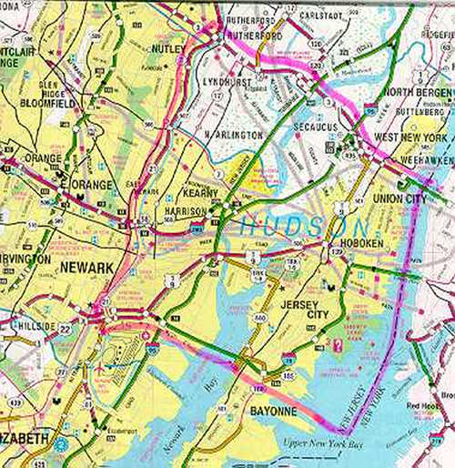 Bergen Arches Study Overview - Map of bergen county nj