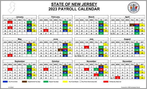 Payroll Calendar 2019 NJ OMB   Payroll