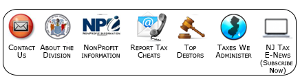 Nj Division Of Taxation Home Page